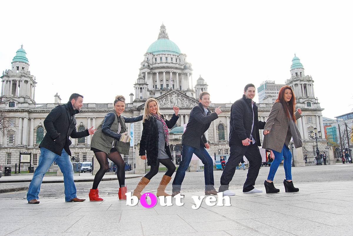 Young adults at Belfast City Hall. Photo 0024.