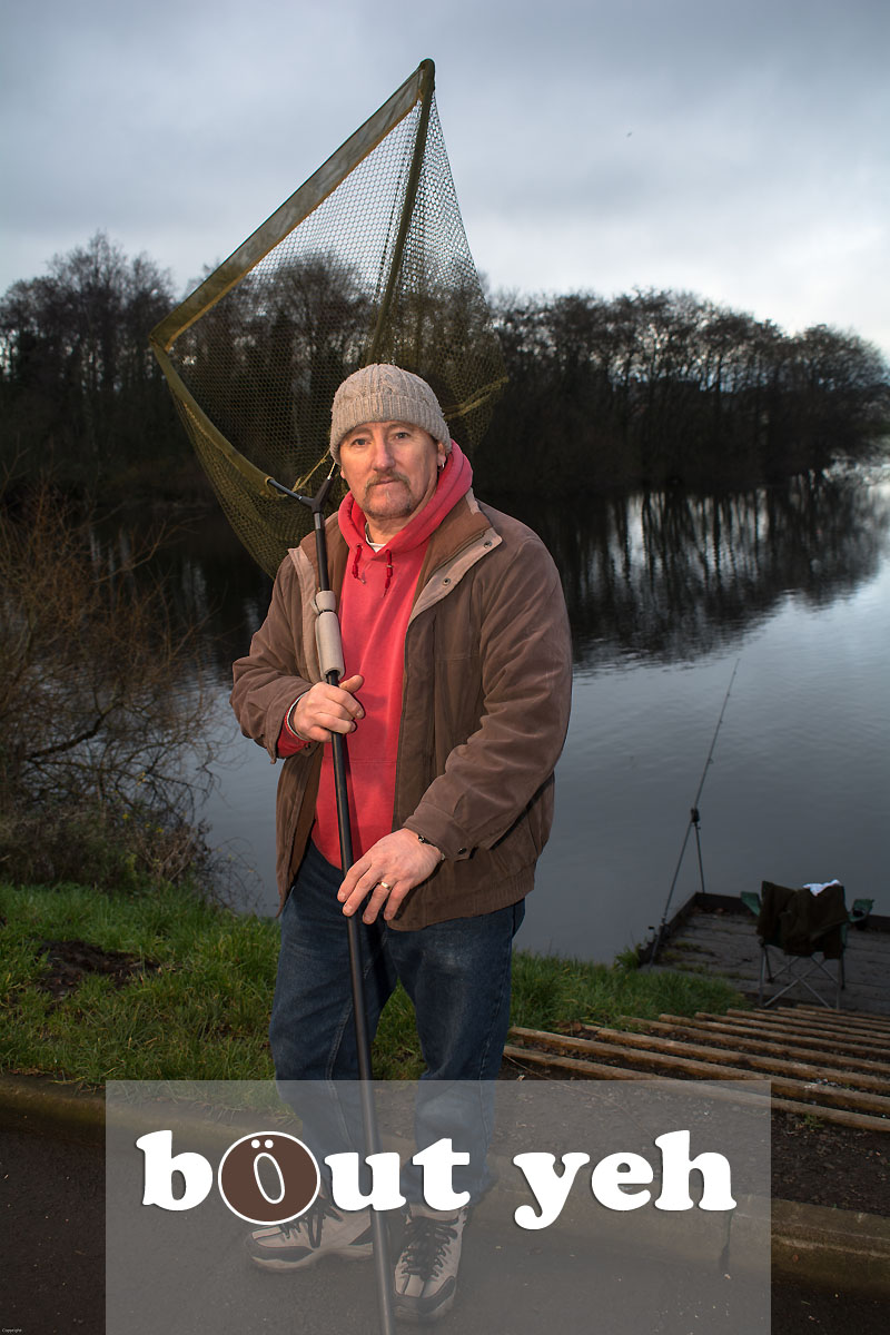Man fishing for pike at Belfast Waterworks, Belfast Northern Ireland - bout yeh photographers Belfast photo 3931.