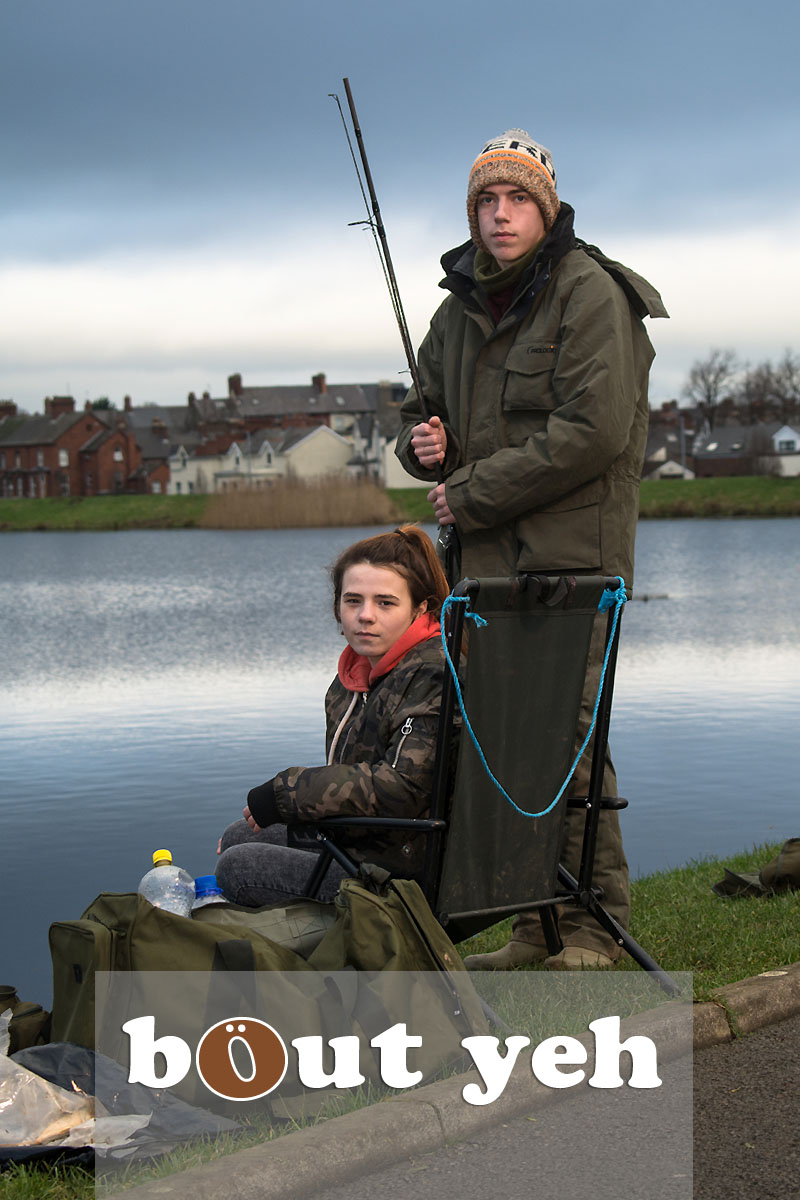 Young couple fishing at Waterworks, Belfast, Northern Ireland - bout yeh photographers Belfast photo 3945.