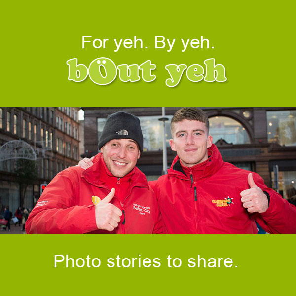 Photo stories to share call to action - bout yeh photographers Belfast.