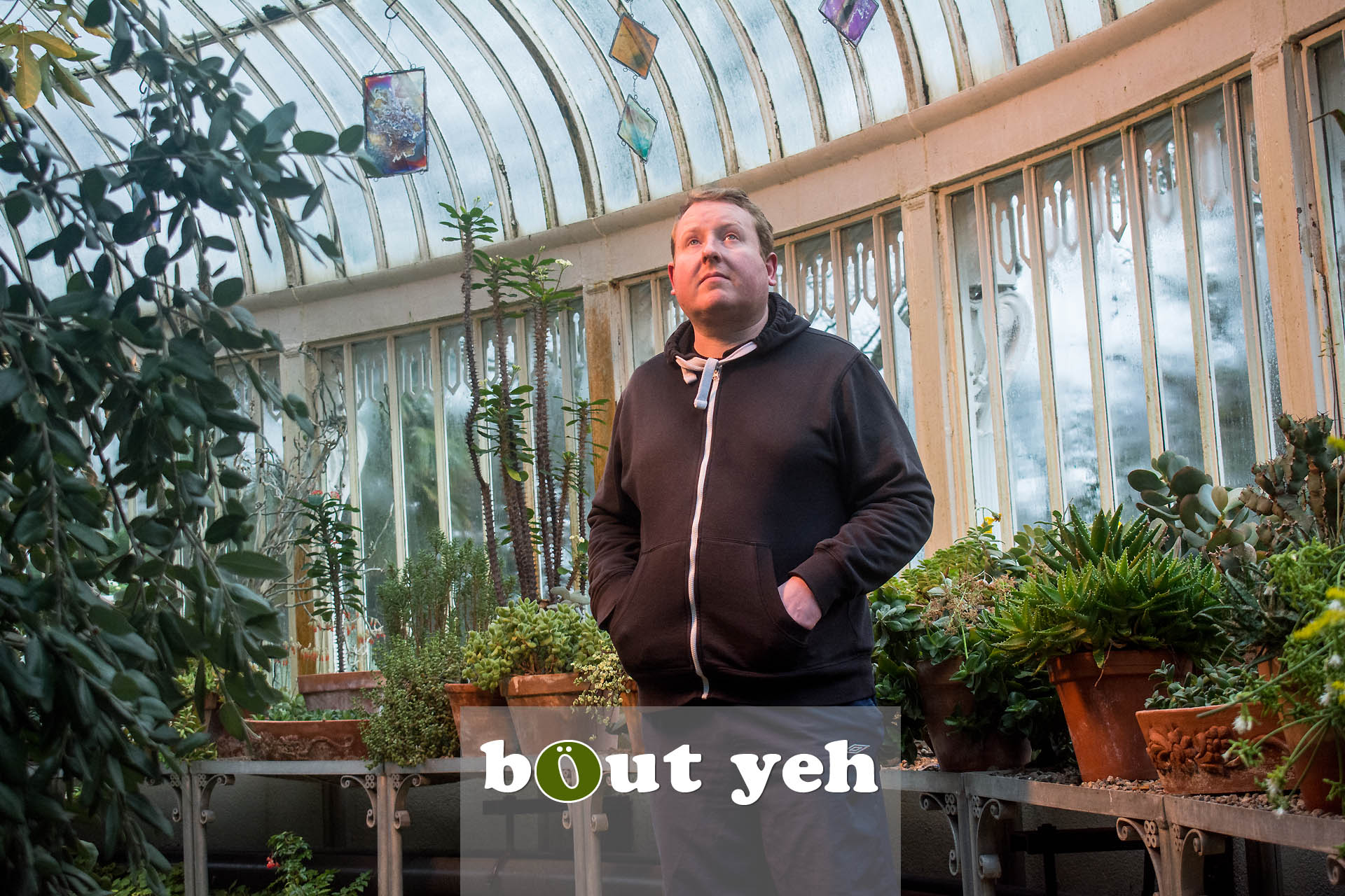 Mike at The Palm House, Botanic Gardens, Belfast - photo 4325.