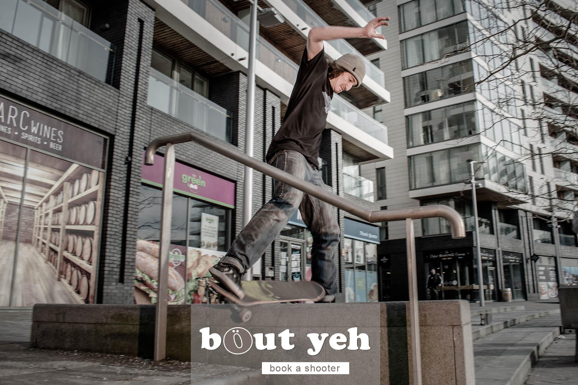 Gerry with skateboard, Titanic Quarter, Belfast - photo 5061.