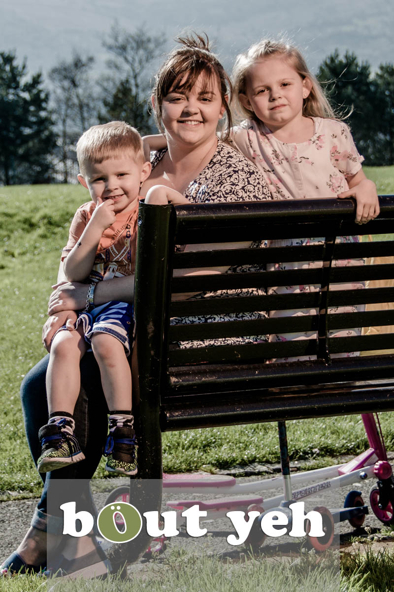 Moya and children, Marrowbone Millenium Park, Oldpark Road, Belfast - photo 5372. Excluding call to action.