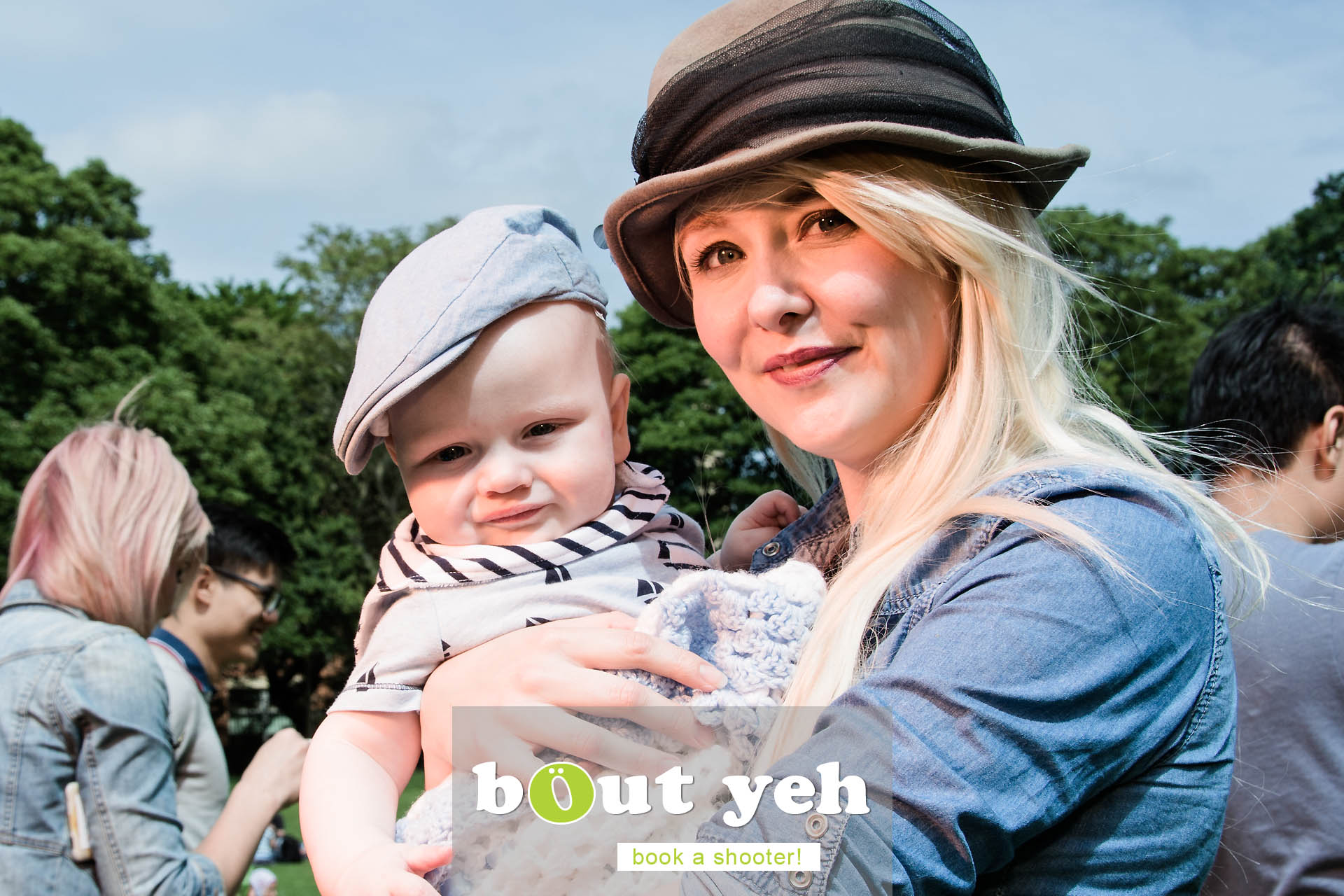 Petrina and Isaac Alexander at Botanic Gardens, Belfast, Northern Ireland - photo 6867.