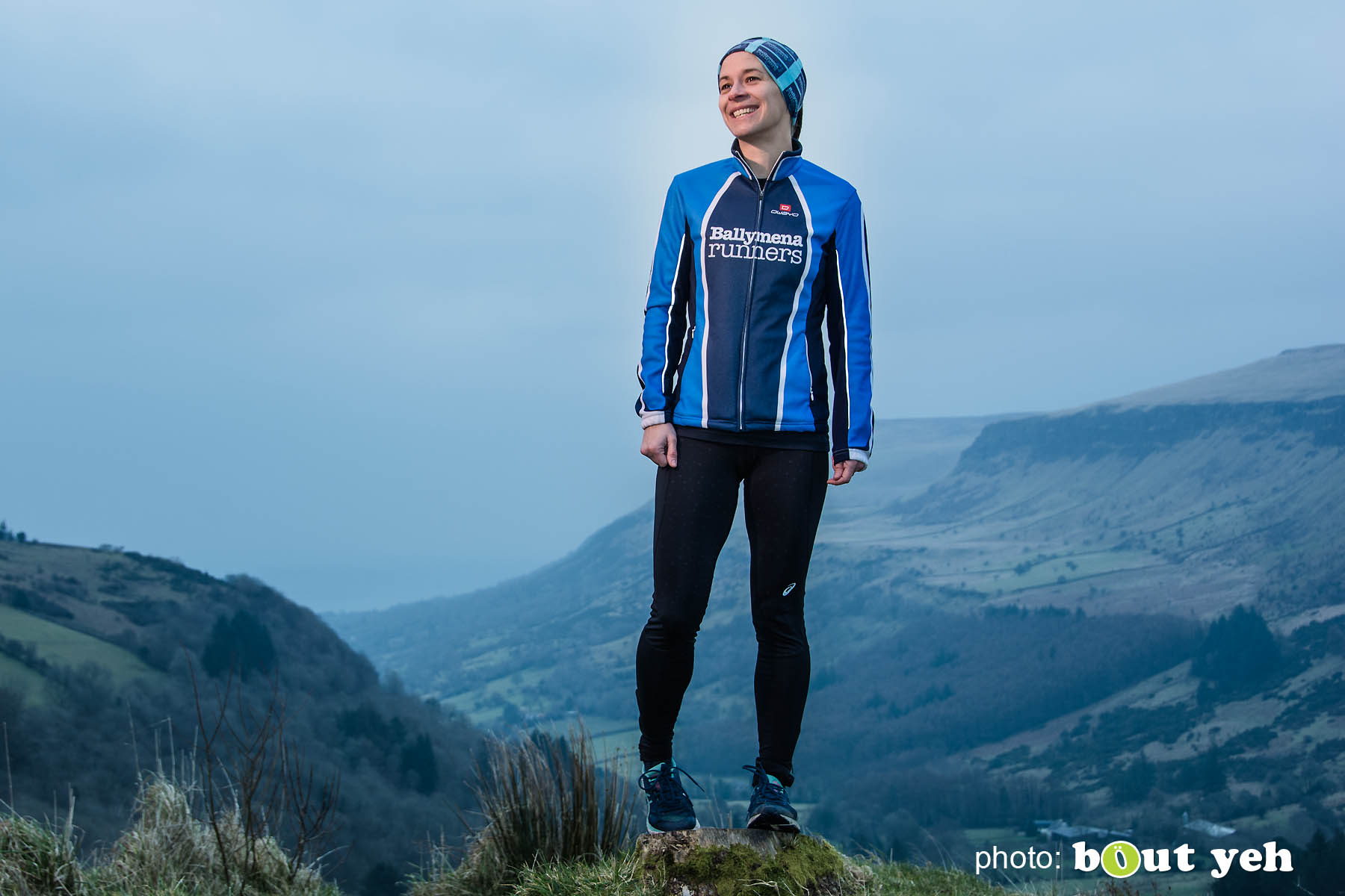 Ruth, of Ballymena Runners, at Glenariff Forest, Northern Ireland. Photo 0595.
