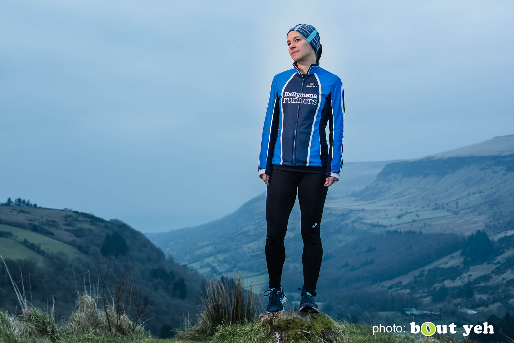 Ruth, of Ballymena Runners, at Glenariff Forest, Northern Ireland. Photo 0598.