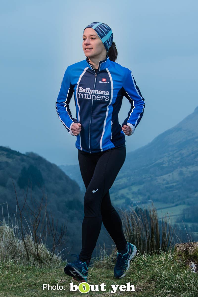 Ruth, of Ballymena Runners, at Glenariff Forest, Northern Ireland. Photo 0602.