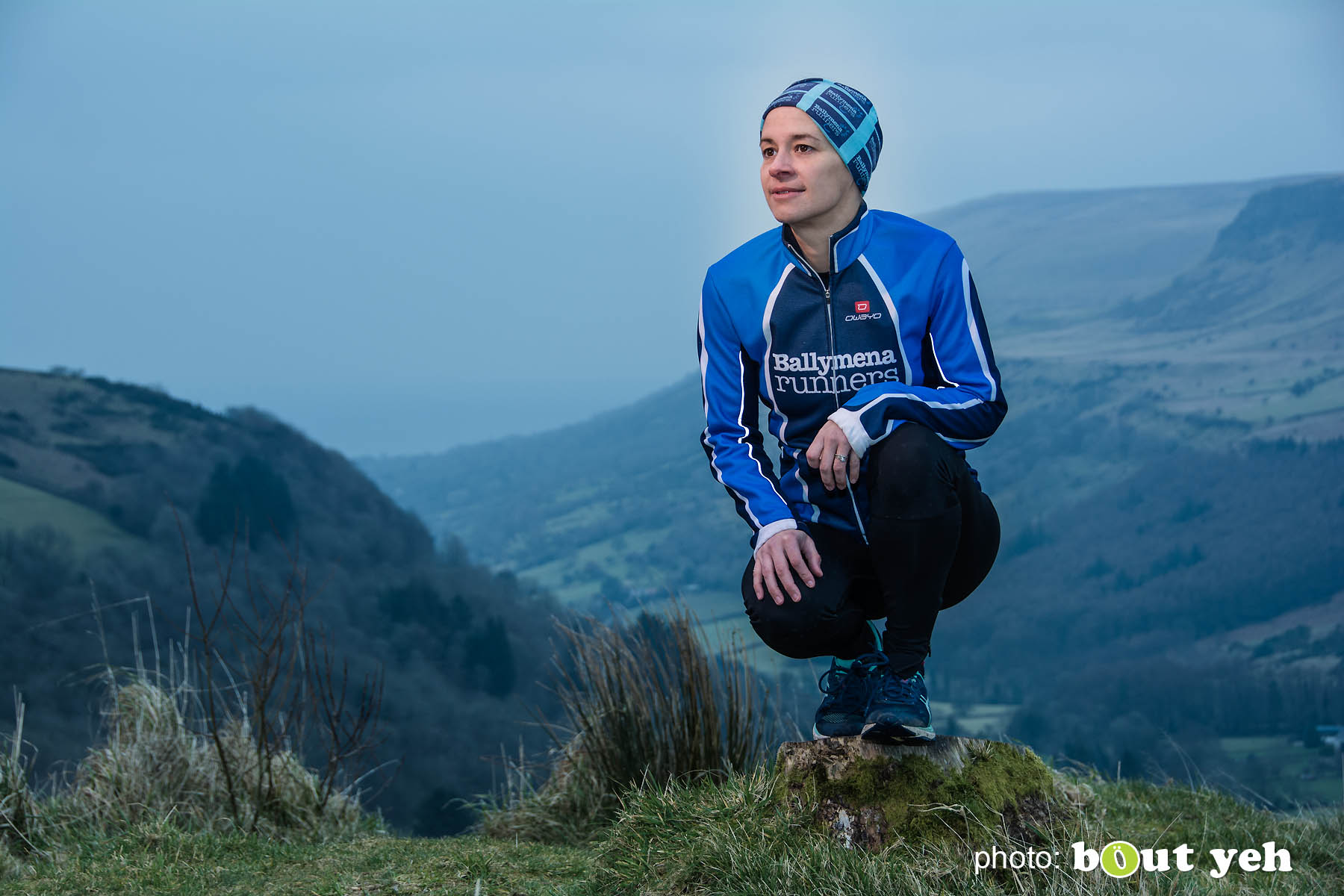 Ruth, of Ballymena Runners, at Glenariff Forest, Northern Ireland. Photo 0605.