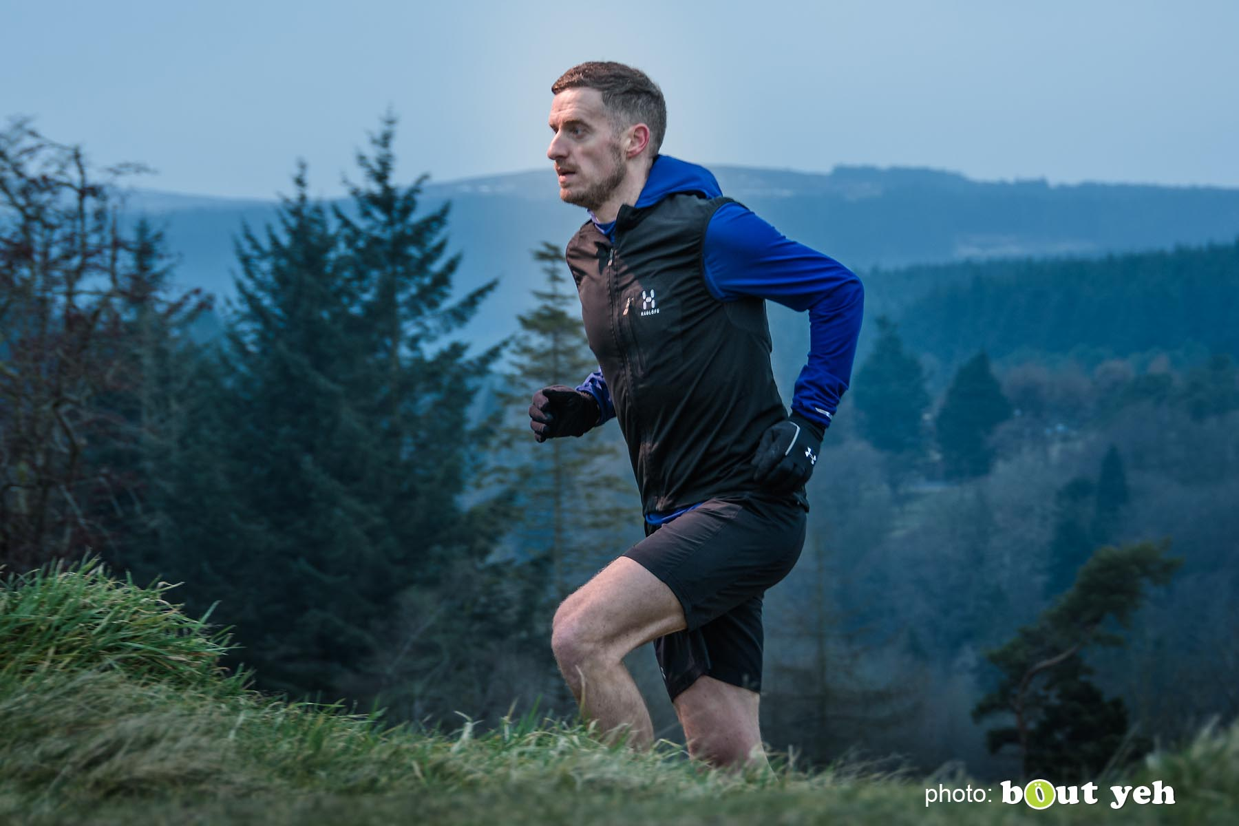 Tim, of Ballymena Runners, at Glenariff Forest, Northern Ireland - photo 0619.