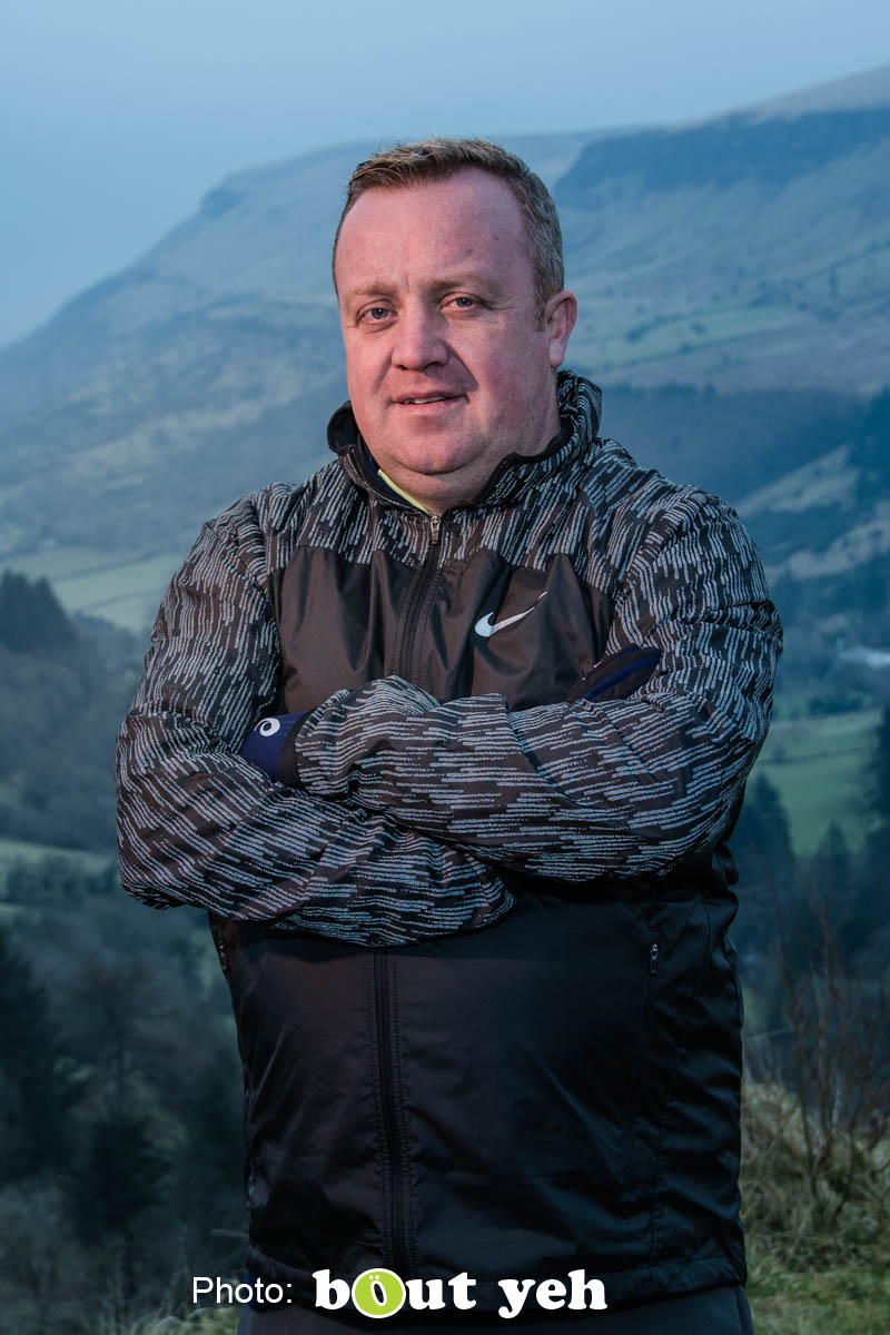 Adrian, of Ballymena Runners, at Glenariff Forest, Northern Ireland. Photo 0638.