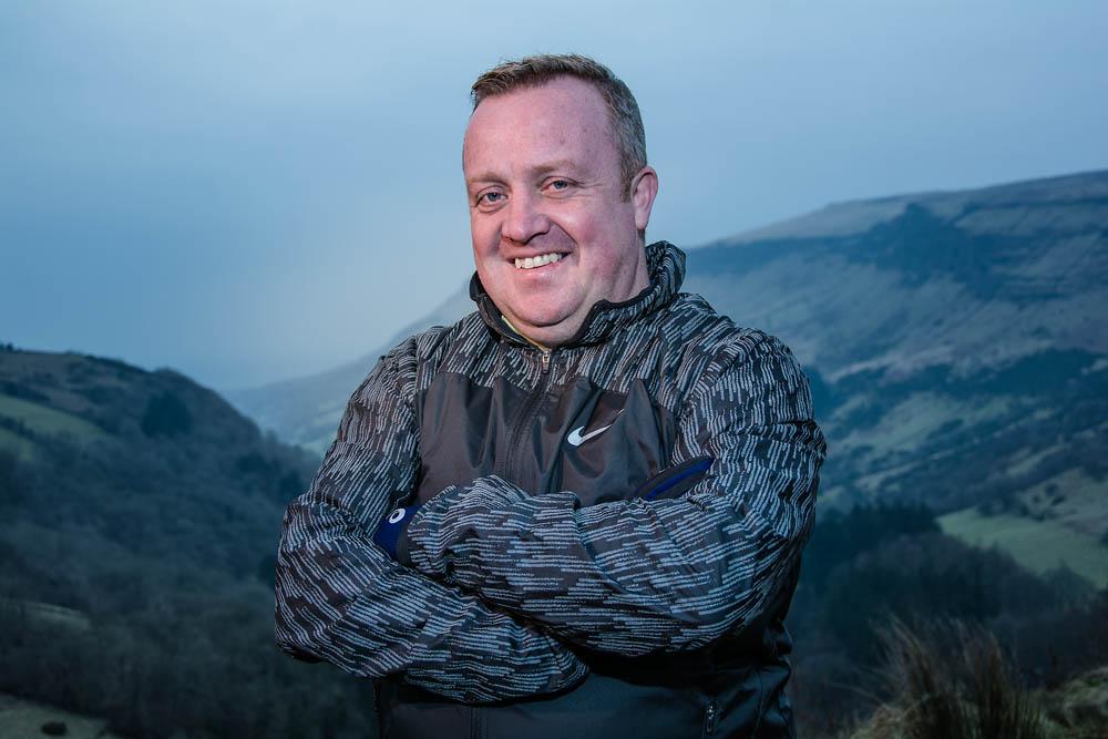 Adrian, of Ballymena Runners, at Glenariff Forest, Northern Ireland. Photo 0641. Featured image.