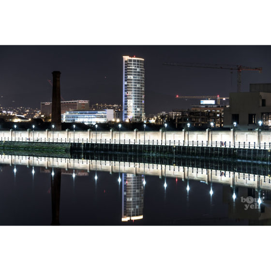 Ireland landscape photograph - River Lagan and Obel Tower, Belfast, photo 0092.