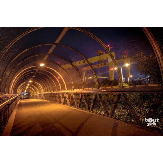Harland and Wolff Shipyard Belfast from M3 by rskb - photographic print for sale.