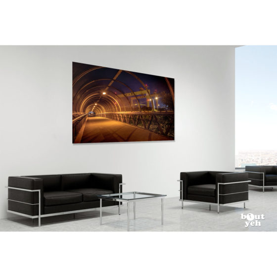 Harland and Wolff Cranes Belfast from M3 by rskb - photographic print in room setting.