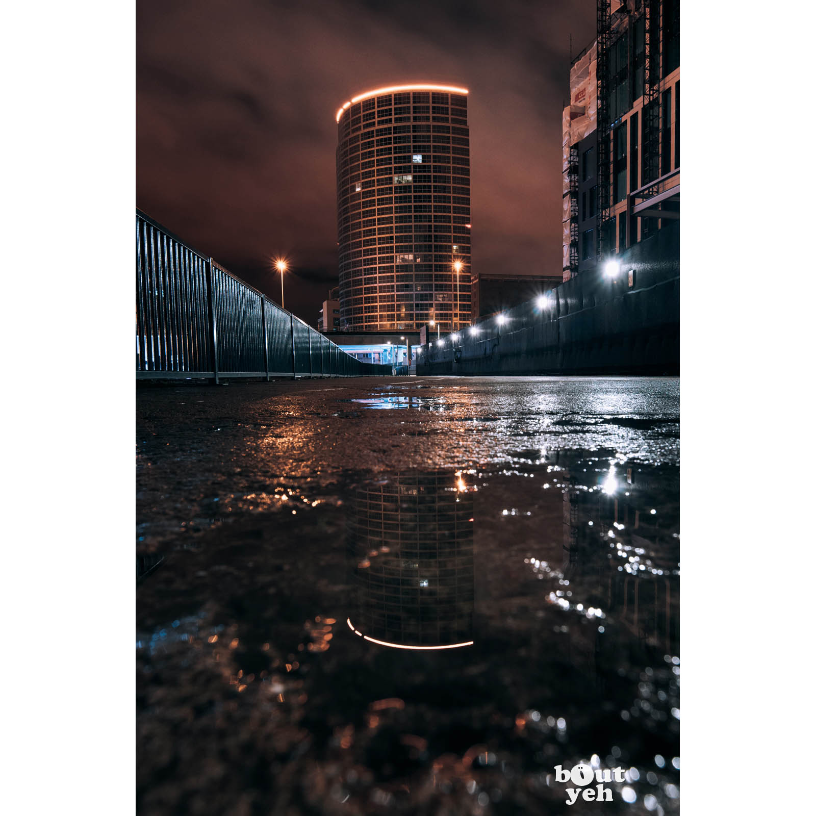 Obel Tower Belfast Northern Ireland by rskb - photographic print for sale.