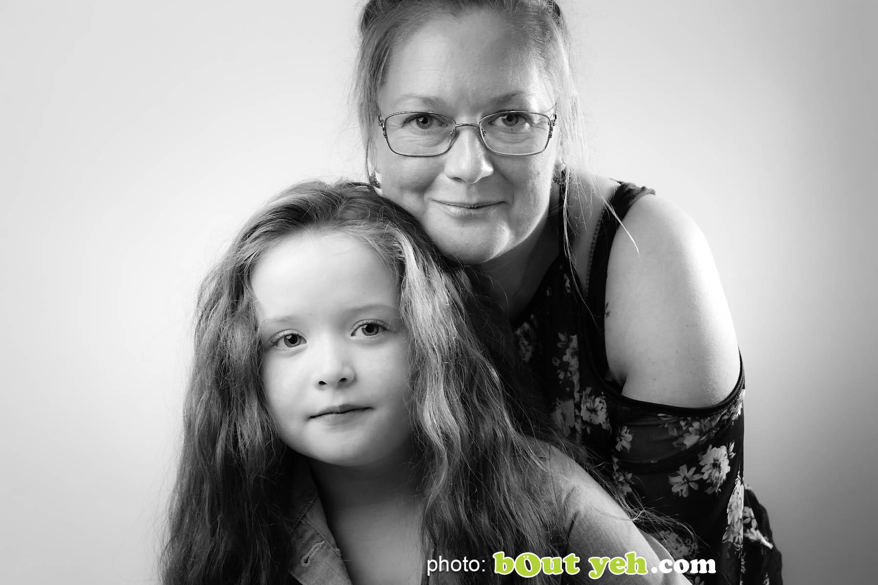 Darcey McNeeley and mum Emma, Newtownabbey. Photo 4971