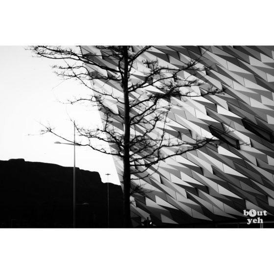 Titanic Belfast Cave Hill - photographic print for sale by sb. reference 6015.