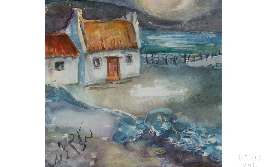 Irish landscape painting – Starry Night