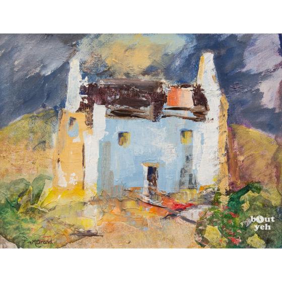 Irish landscape painting, Abandoned, by Irish artist Margaret B.